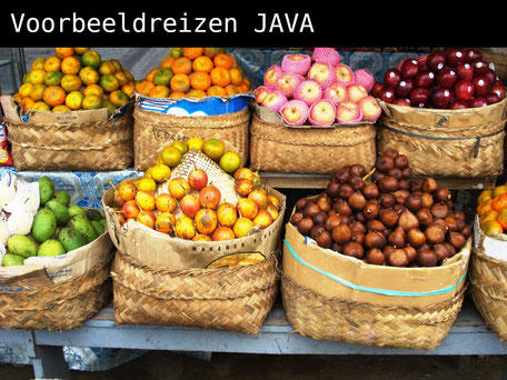 fruitmarkt op Java Indonesie