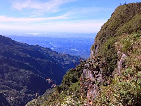 Indrukwekkende uitzichtpunt Worlds End in de Horton Plains Sri Lanka