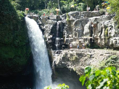 Tegenungan waterval dichtbij Ubud en Sukawati