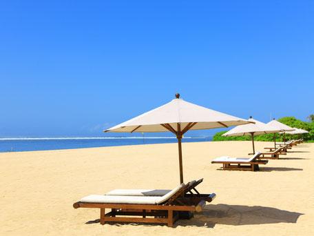 Witte strand van Nusa Dua Bali