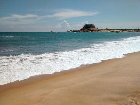 Nilaveli beach bij Trincomalee op Sri Lanka