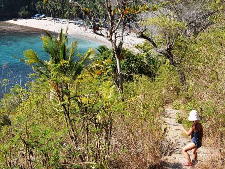 Wandeling naar Crystal bay op Nusa Penida