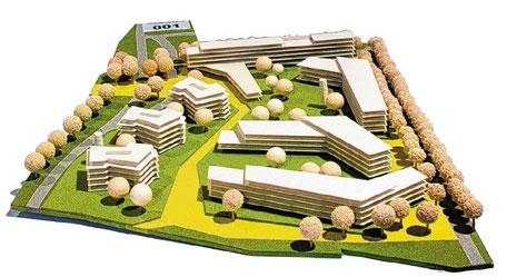 """Entwurf Steinblock Architekten Magdeburg. 1. Preis der Jury beim Ideenwettbewerb """"Schleusenstraße/Kleiner Stadtmarsch""""."""
