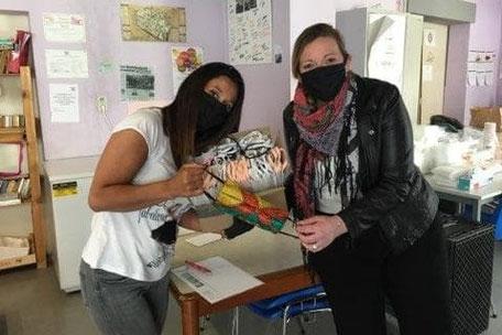 Distribution gratuite de masques à l'Asbl Un toit pour la nuit;