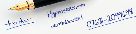 Termin vereinbaren - Stressreduktion Hypnose