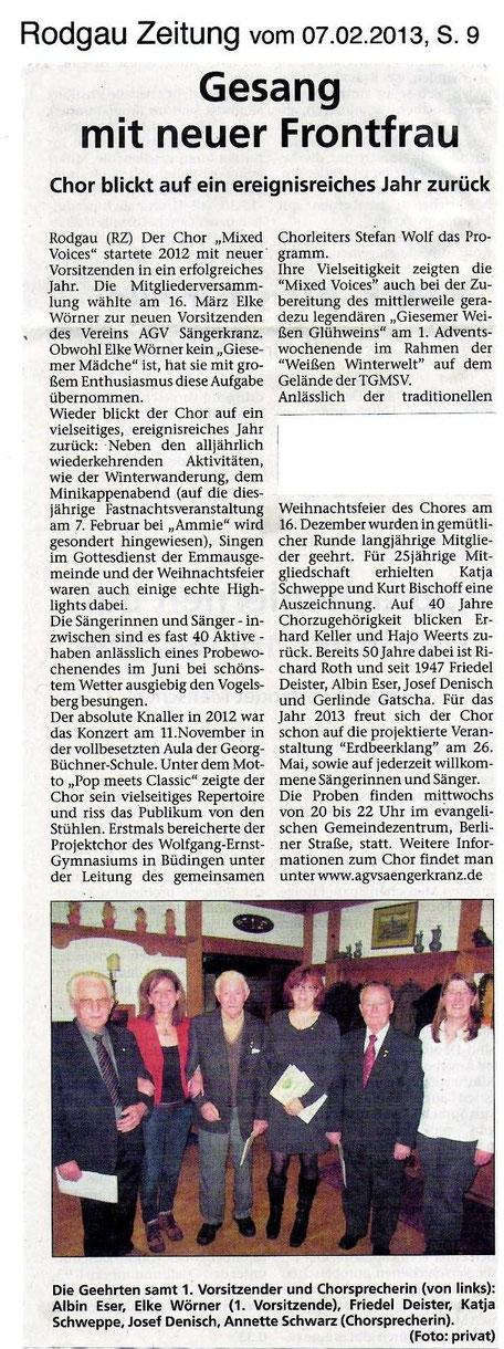 07.02.2013 Rodgau-Zeitung