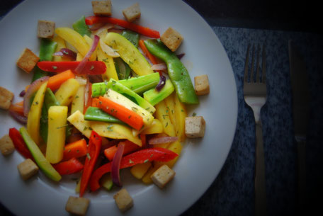 Detox Rezepte - Gemüsepfanne  Tofu
