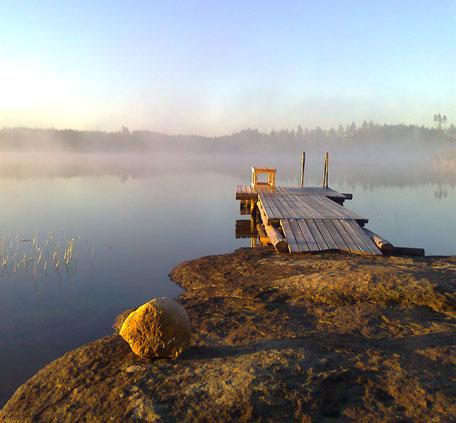 Bootssteg in Finnland, Bootanleger