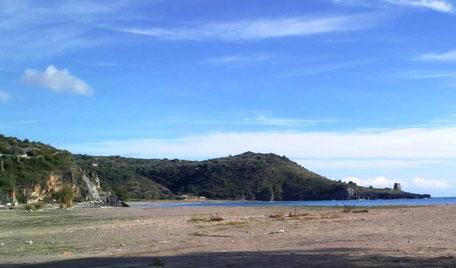 Spiaggia Lentiscelle dal porto