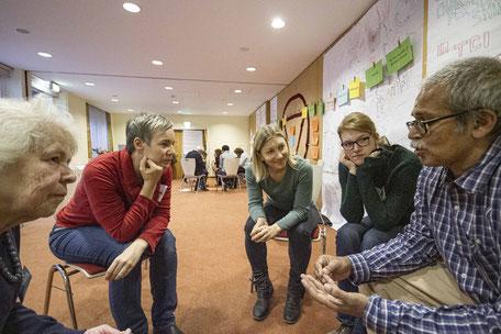 Gruppenarbeit in einem Workshop