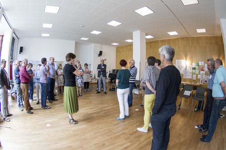 Interaktive Übung in einem TZI-Workshop