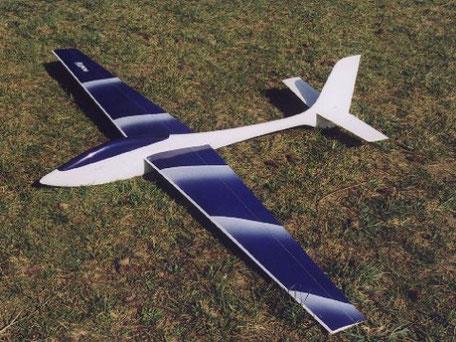 Voltij Aeromod blanc / bleu foncé dans l'herbe