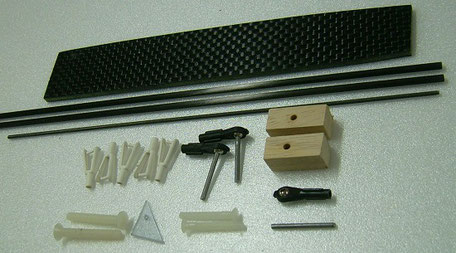 accessoires d'accastillage du planeur Coquillaj Aeromod
