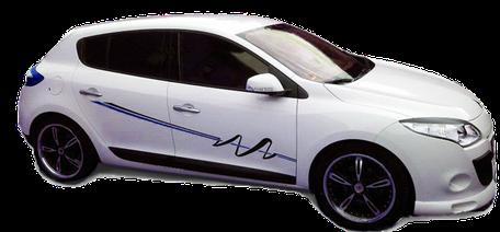 Autobeschriftung, Autoaufkleber, LKW-Planen