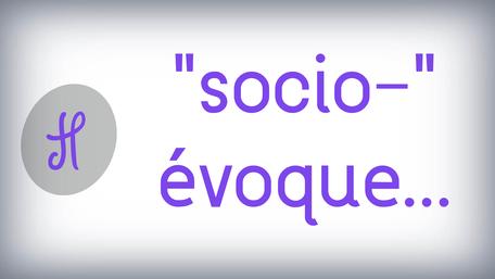 """""""socio-"""" évoque..."""