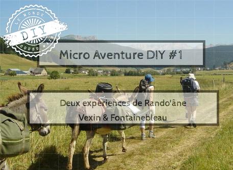 Guide micro-aventure- Randonnée âne-Vexin-Fontainebleau