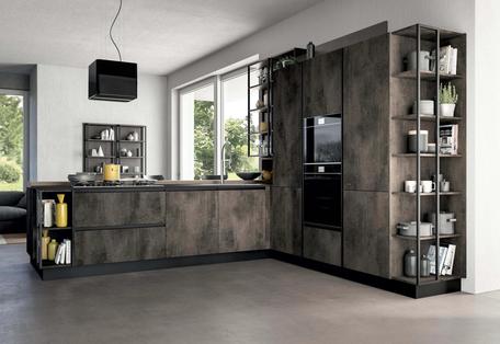 Cucina componibile moderna con penisola Febal Casa