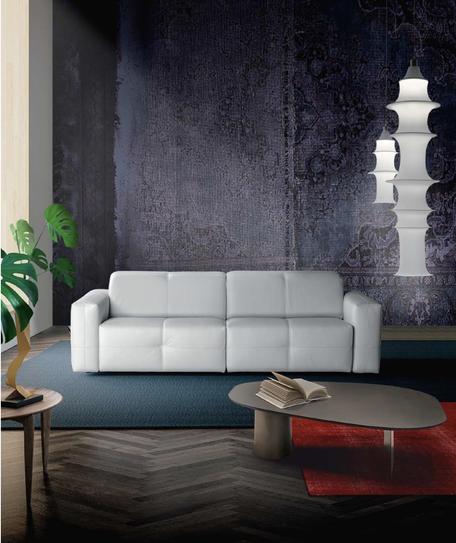 Divano in pelle moderno, divano moderno bianco, divano moderno 2 posti, divano design a salerno