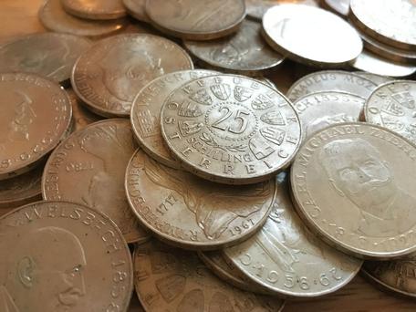 25 Schilling Silbermünzen verkaufen