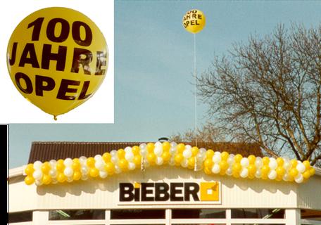 Riesenballon aus Latex mit Ballongas Helium gefüllt