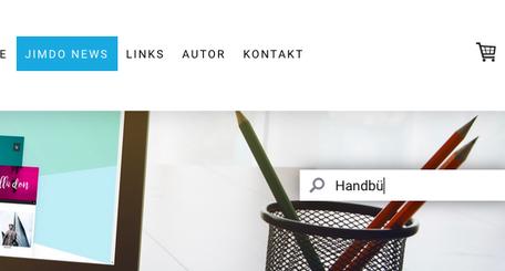 Jetzt bei JimJim.de verfügbar: das ausfahrbare Suchfeld!