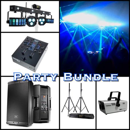 Musikanlage und Partybeleuchtung mieten im Set