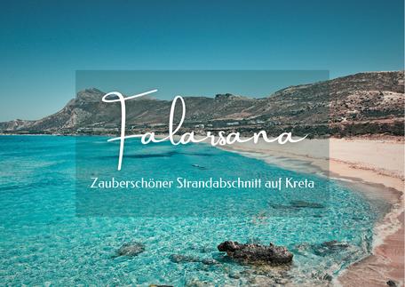 Küstenabschnitte mit einer Möwe am Ufer des Falarsana Strandes in Griechenland