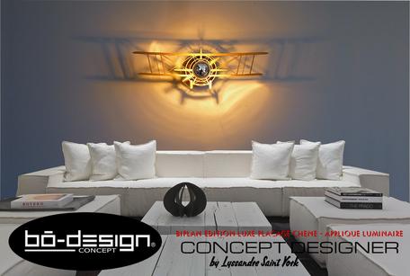 luminaire industriel, luminaire aviation, décoration aviation