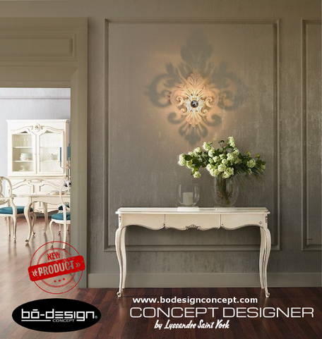 fleur de lys,luminaire contemporaine, applique murale contemporaine,luminaire design,décoration chateau,console baroque,suspension contemporaine