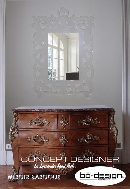 miroir baroque, miroir design