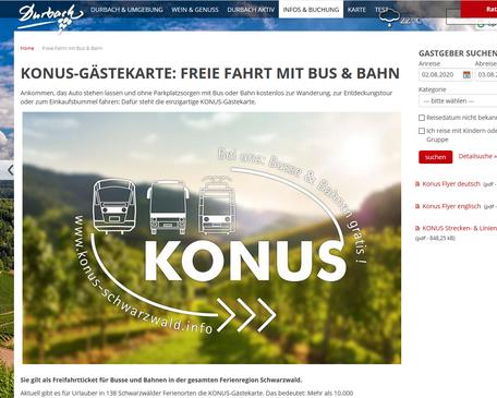 www.hoelzleberg.de - Konus Gästekarte, Durbach