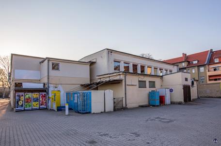 Bismarck - Lichtspiele, Zescher Straße in Lichtenrade. Rückansicht des ehemaligen Kinos vor dem Abbruch.