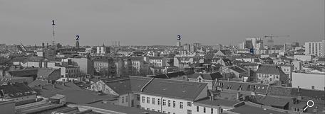 Dach der Lützowstraße. Erklärung der Gebäude 5
