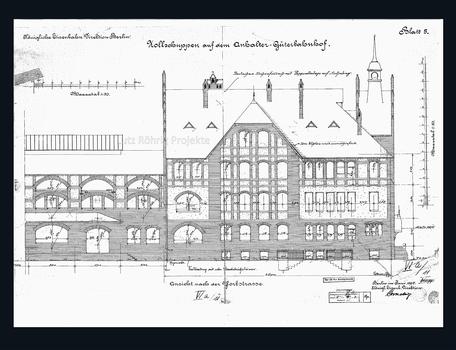 Fassadenriss des Zollpackhofs Berlin