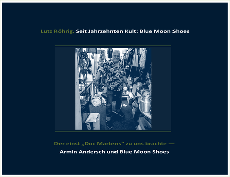 Berlin. Blue Moon Shoes. Titelblatt