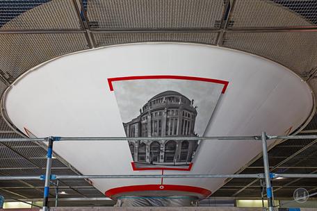 Berlin, Bahnhof Potsdamer Platz, Graffiti - Künstler, Steven Karlstedt
