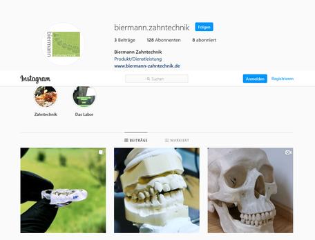 Biermann Zahntechnik GmbH Instagram