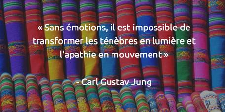 Sans émotions, il est impossible de transformer les ténèbres en lumière et l'apathie en mouvement Carl Gustav Jung