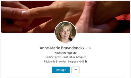 Le profil LinkedIn d'Anne-Marie