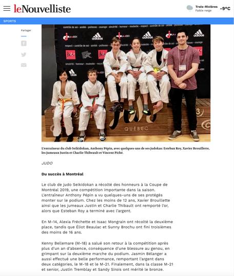 Le Nouvelliste 6 mars 2019
