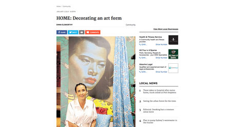 Flourish Interior Design article Newcastle Herald 2014