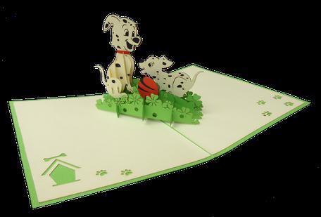 Carte pop-up dalmatiens