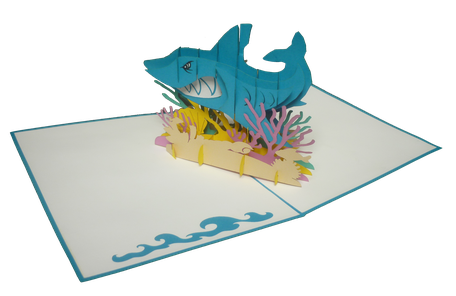 Carte Pop-Up Requin