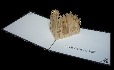 Carte Pop-Up Notre Dame de Paris