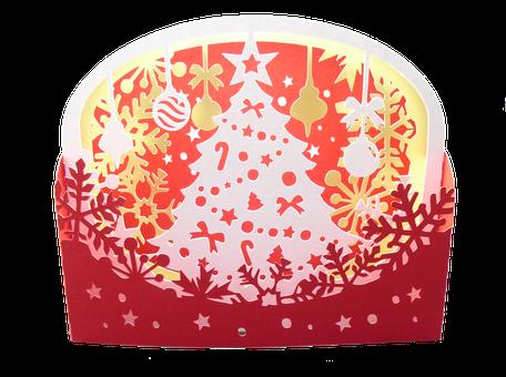 Carte diorama Noël - Carte pop-up Sapin de Noël haut de gamme