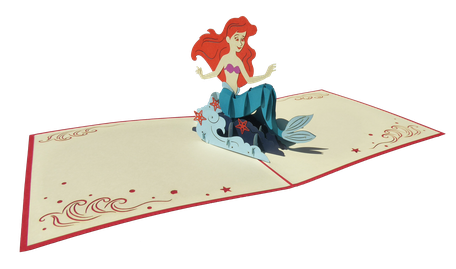 Carte pop-up sirène - carte kirigami sirène