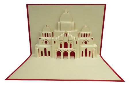 Carte kirigami Sacré Coeur