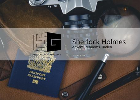 Sherlock Holmes, AdventureRooms Baden, on Escape Room Guide