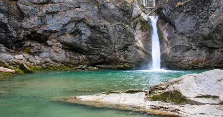 Buchegger Wasserfälle Allgäu Oberallgäu Wasserfall Bayern