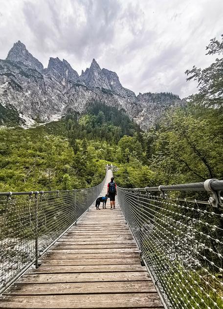 Klausbachtal Hintersee Berchtesgaden Nationalpark Hängebrücke